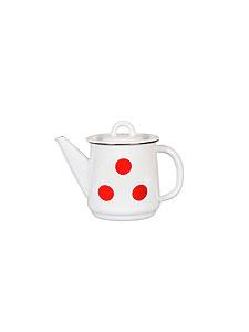 Чайник 1,0л 1с202с Горошки белосн.