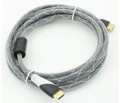 Кабель HDMI Ver.1.4 Black jack HDMI(19pin)/HDMI(19pin) (3м) феррит.кольца Позолоченные контакты