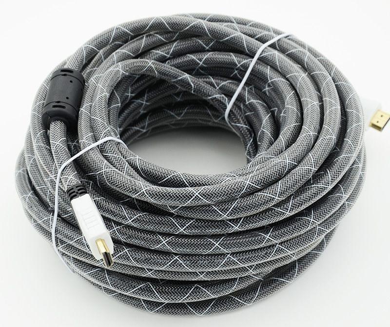 Кабель HDMI Ver.1.4 Black jack HDMI(19pin)/HDMI(19pin) (20м) феррит.кольца Позолоченные контакты
