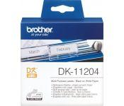 Этикетки Brother DK11204 для Brother QL-500 (400шт) 17x54mm