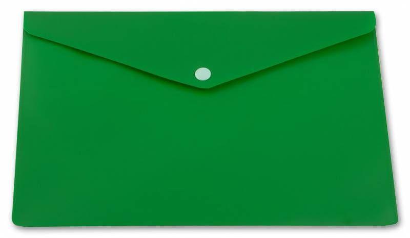 Конверт на кнопке Бюрократ PK804A5NGRN A5 непрозрачный пластик 0.18мм зеленый