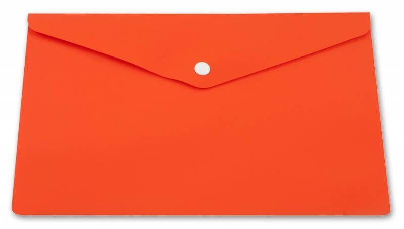 Конверт на кнопке Бюрократ PK804A5NOR A5 непрозрачный пластик 0.18мм оранжевый