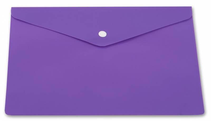 Конверт на кнопке Бюрократ PK804A5NVIO A5 непрозрачный пластик 0.18мм фиолетовый