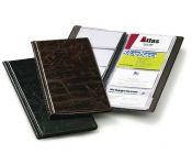 Визитница переносная Durable Visifix 2380-01 253х115мм (96 визиток) ПВХ черный