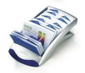 Визитница настольная Durable Visifix Desk 2413-01 (200 визиток) вклад.:100шт. пластик черный