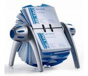 Визитница настольная Durable Visifix 2417-23 (400 визиток) вклад.:200шт. серебристый