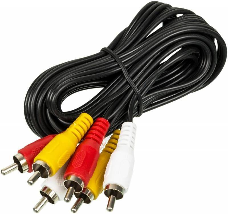 Кабель аудио-видео Ningbo 3хRCA (m)/3хRCA (m) 2м. черный (JAAC027-2)