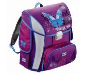 Ранец Step By Step BaggyMax Simy Butterfly фиолетовый/рисунок бабочки