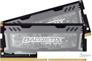 Оперативная память Crucial Ballistix Sport LT 2x8GB DDR4 SODIMM PC4-19200 [BLS2C8G4S240FSD]
