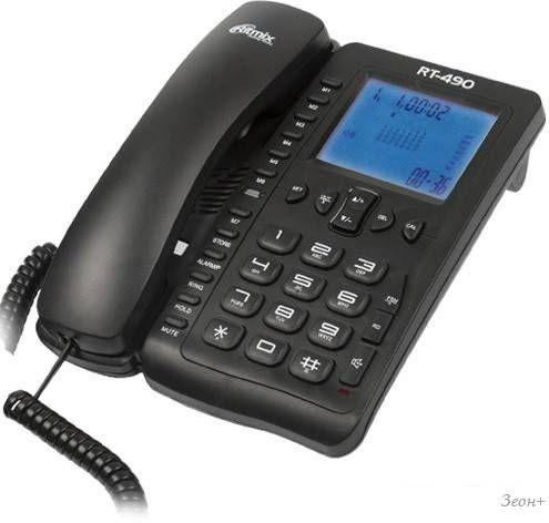 Проводной телефон Ritmix RT-490 (черный)