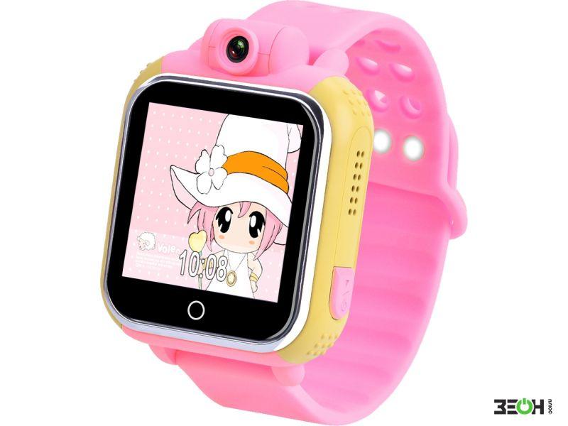 Часы Детские Smart Baby Watch Q50 С Gps-Трекером Розовый