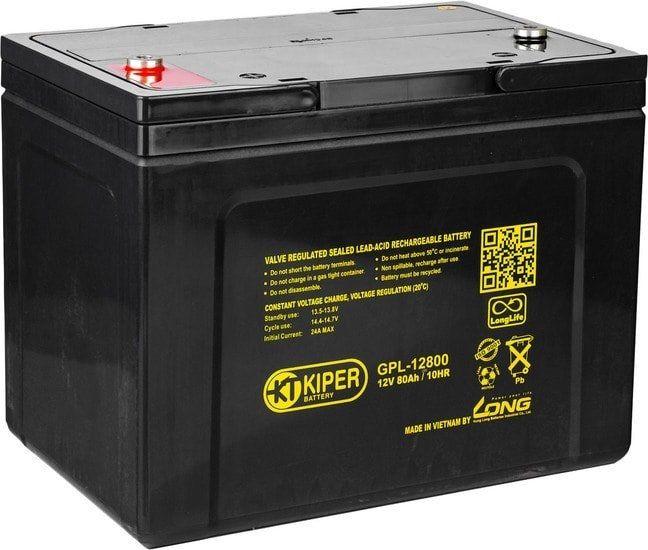 Аккумулятор для ИБП Kiper GPL-12800 (12В/80 А·ч)