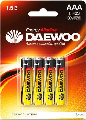 Батарейки Daewoo AAA 4 шт. [4690601030399]