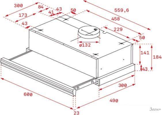 Кухонная вытяжка TEKA CNL 6400 (нержавеющая сталь) [40436800]