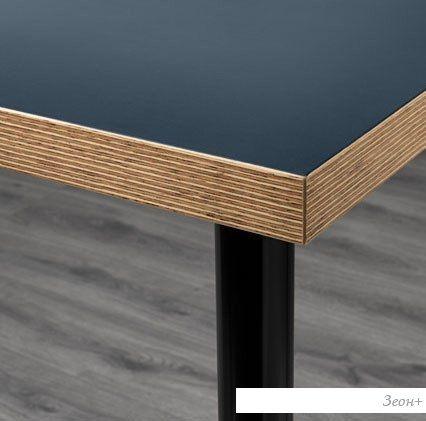 Письменный стол Ikea Линнмон/Адильс (синий/черный) [592.468.06]