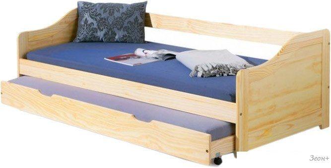 Кровать с выдвижным спальным местом Halmar Laura 209x96