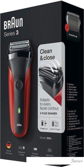 Электробритва Braun Series 3 300ts (красный)