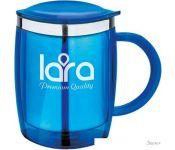 Термокружка Lara LR04-37 0.4л (голубой)