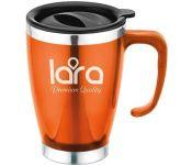 Термокружка Lara LR04-38 0.4л (оранжевый)