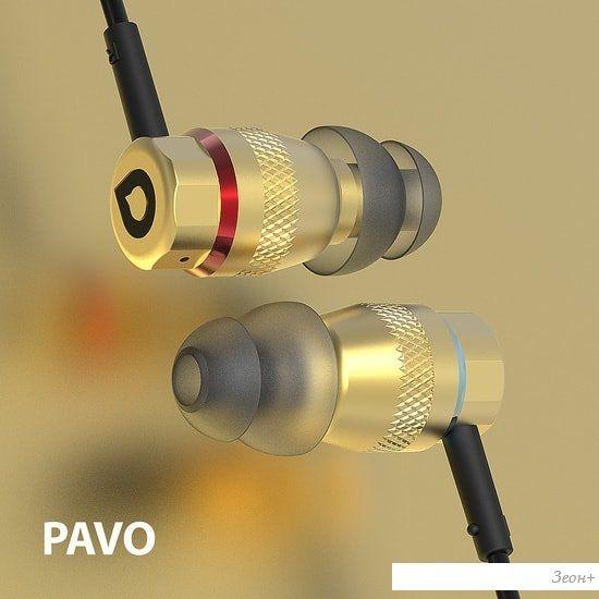 Наушники с микрофоном Accutone Pavo (золотистый)