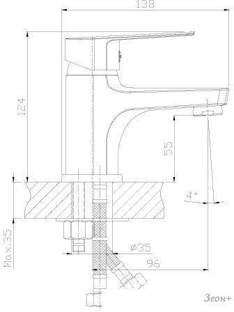 Смеситель Rossinka Silvermix S35-15