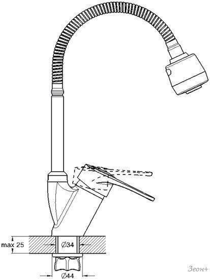 Смеситель Solone KAK4-B043