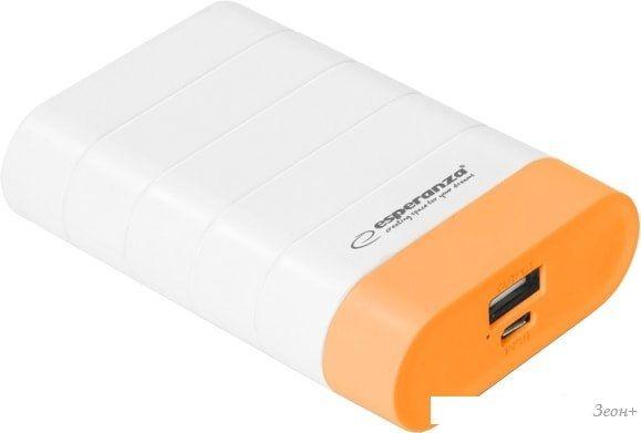 Портативное зарядное устройство Esperanza Graviton (белый/оранжевый)