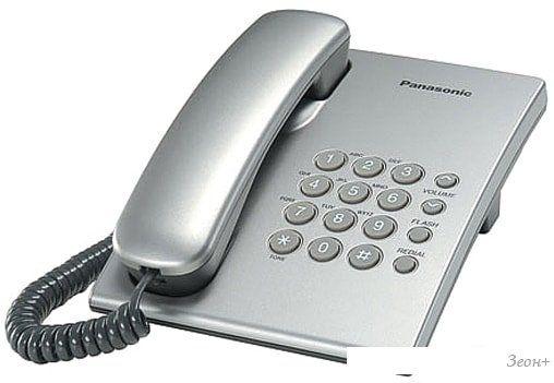 Проводной телефон Panasonic KX-TS2350RUS (серебристый)