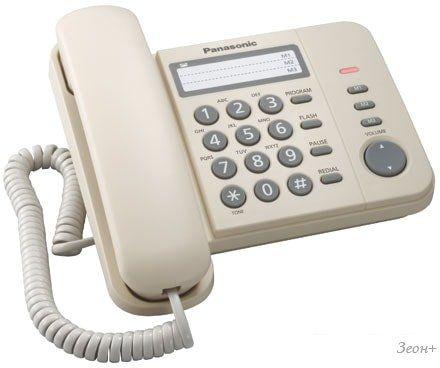 Проводной телефон Panasonic KX-TS2352RUJ (бежевый)