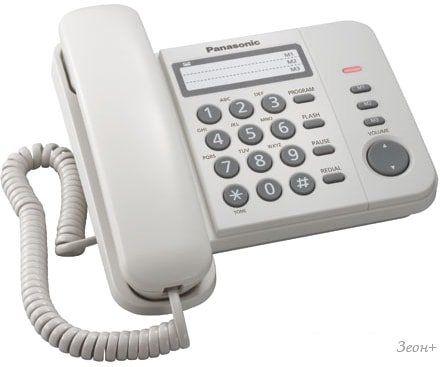 Проводной телефон Panasonic KX-TS2352RUW (белый)