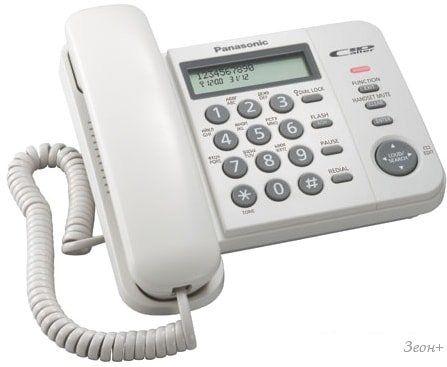 Проводной телефон Panasonic KX-TS2356RUW (белый)