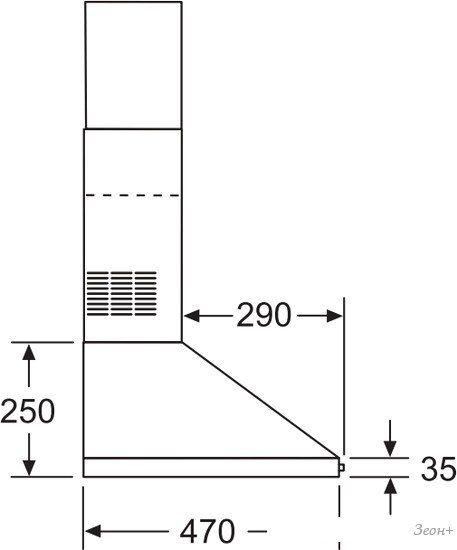 Кухонная вытяжка Bosch DWP64CC50R