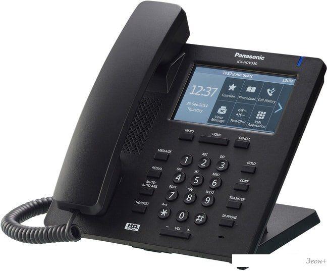 Проводной телефон Panasonic KX-HDV330RUB (черный)