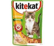 Корм для кошек Kitekat с курицей в желе 0.085 кг