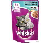 Корм для кошек Whiskas желе с кроликом и овощами 0.085 кг