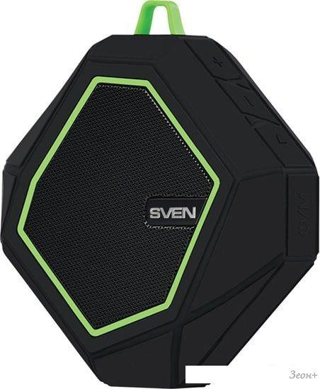 Беспроводная колонка SVEN PS-77 (черный/зеленый)
