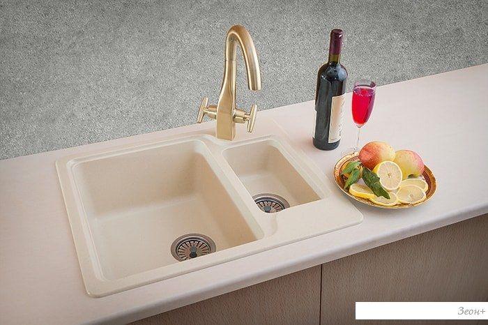 Кухонная мойка Granicom G011 (серебристый)