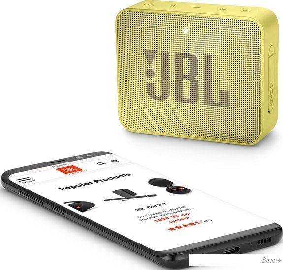 Беспроводная колонка JBL Go 2 (желтый)