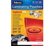 Пленка для ламинирования Fellowes Glossy Polyester Pouches 95x65 мм, 125 мкм, 100 л