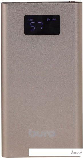 Портативное зарядное устройство Buro RA-10000-QC3.0-I&O (золотистый)