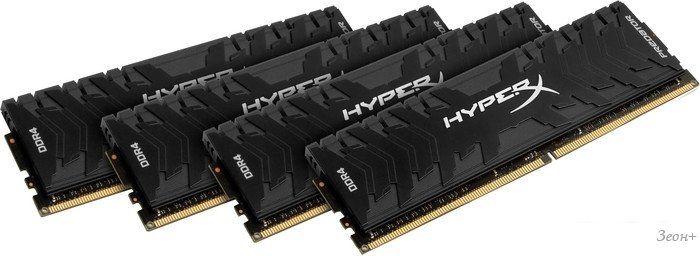 Оперативная память HyperX Predator 4x16GB DDR4 PC4-19200 HX424C12PB3K4/64