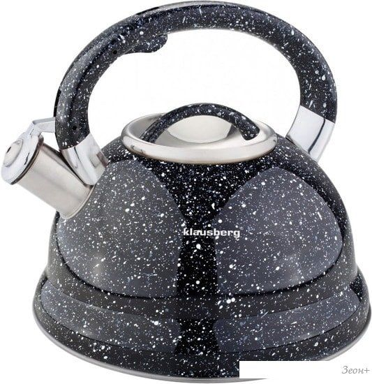 Чайник со свистком Klausberg KB-7047 (черный)