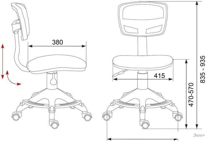 Компьютерное кресло Бюрократ CH-299-F/PK/FLIPFLOP_P (розовый)