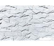 Декоративный камень Polinka Кирпичный скол 0800 (белый)