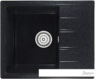 Кухонная мойка Berge 5850 (черный глянцевый)