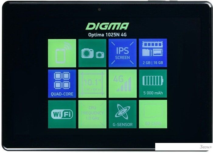 Планшет Digma Optima 1025N TS1190ML 16GB 4G (черный)