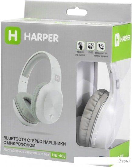 Наушники Harper HB-408 (белый)