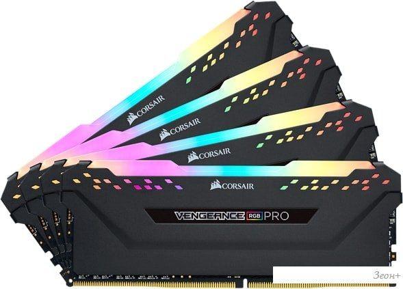 Оперативная память Corsair Vengeance PRO RGB 4x16GB DDR4 PC4-28800 CMW64GX4M4K3600C18