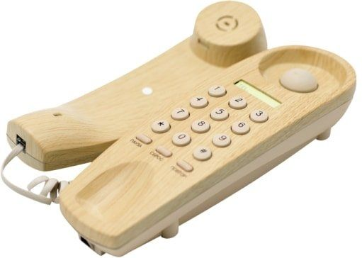 Проводной телефон Ritmix RT-005 (светлое дерево)