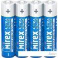 Батарейки Mirex Ultra Alkaline AAA 4 шт LR03-S4